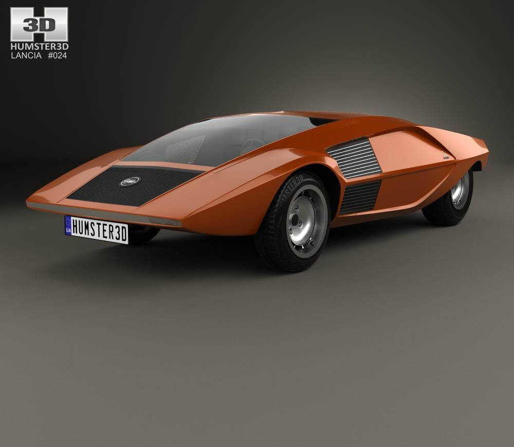 lancia stratos zero 1970 3d model from lancia 3d models pinterest. Black Bedroom Furniture Sets. Home Design Ideas