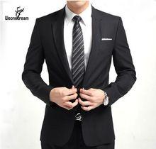 nueva llegada de moda marca hombres Slim Fit trajes de hombre de ...
