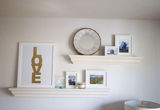Living Room Ideas Floating Shelves Above Desk Area