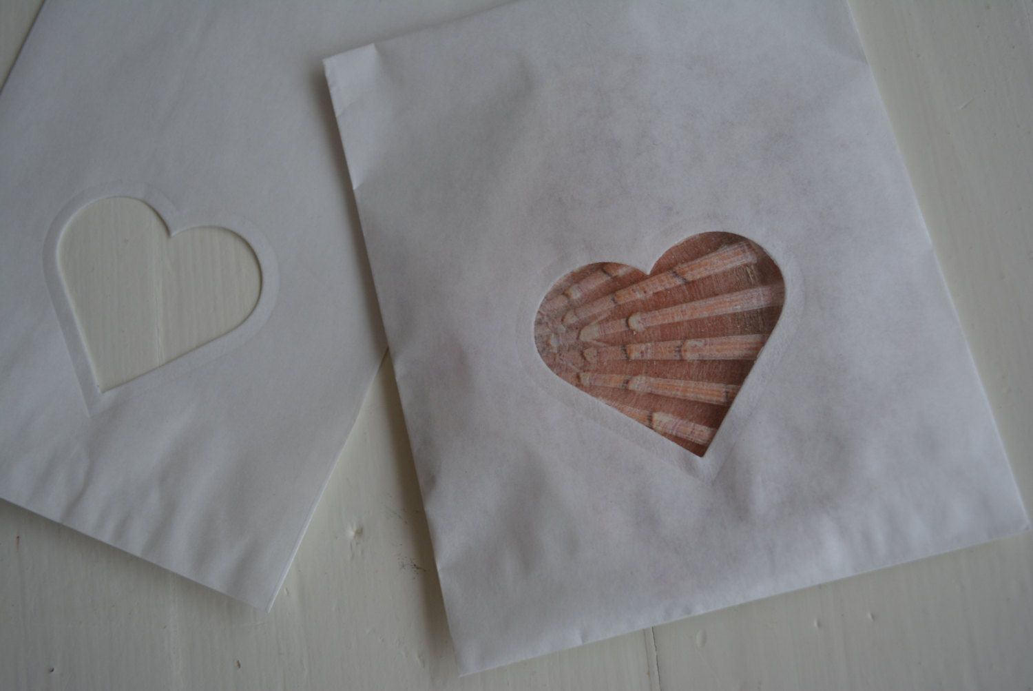 Last Bundle of 150 Small Off white paper bags with a heart window complete with cellophane bag Party favor, birthday party or wedding favor door SierGoed op Etsy