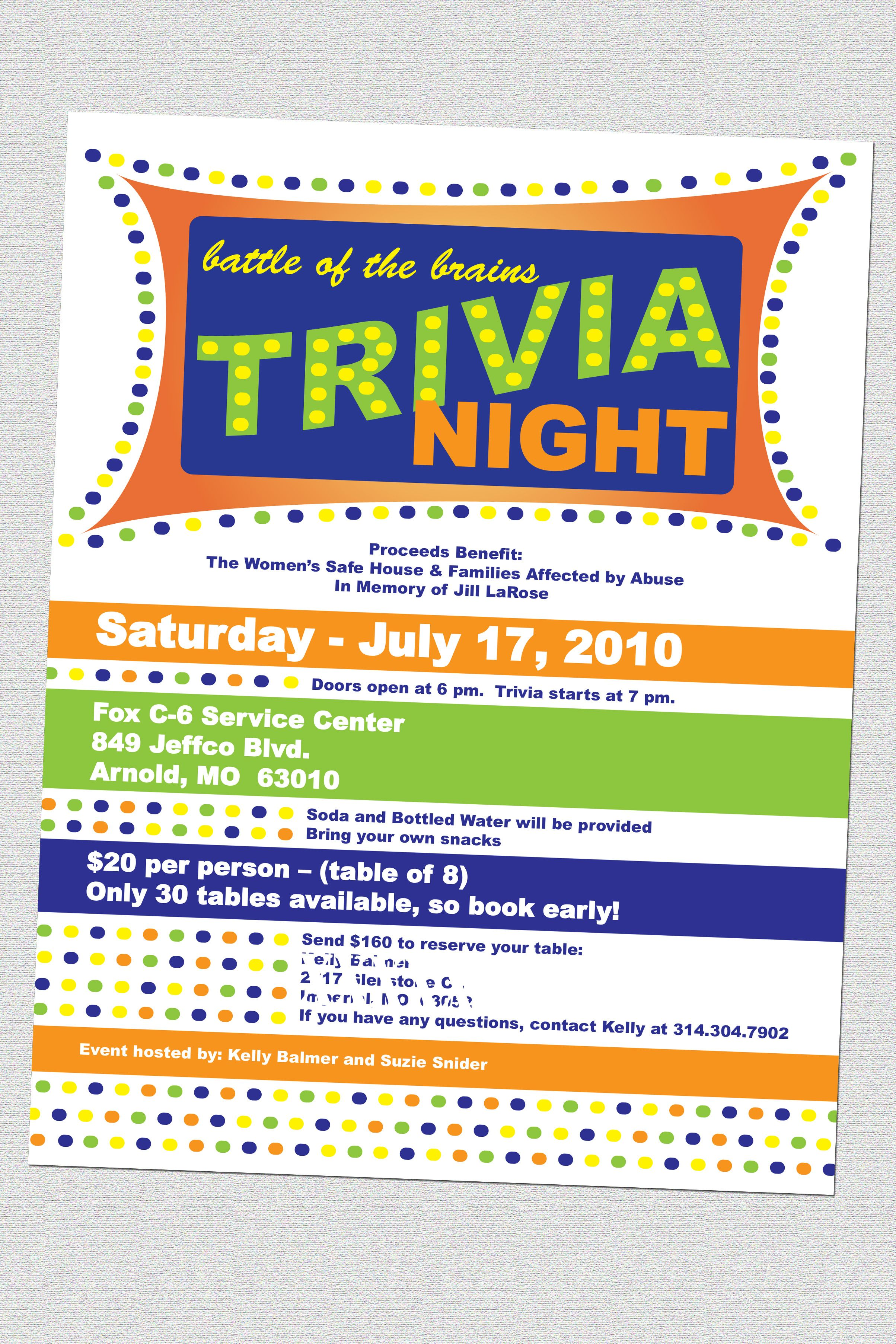 trivia night flyers designs and photography by kristin hudson trivia night flyers