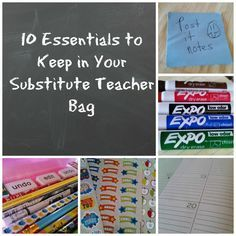 Teach with tenacity subbing 101 10 essentials to keep in your teach with tenacity subbing 101 10 essentials to keep in your substitute teacher bag fandeluxe Images