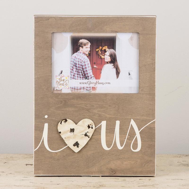 I Love Us w/Tin Heart (9 x 12) (Holds 5 x 7 Photo), Frame