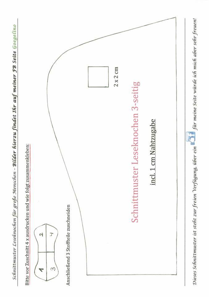 Leseknochen … | pincushion pinlow | Pinterest | Leseknochen, Nähen ...