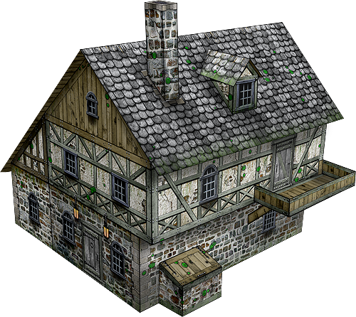 Village Pub Paper Model - Dave Graffam Models | Fantasy & Medieval