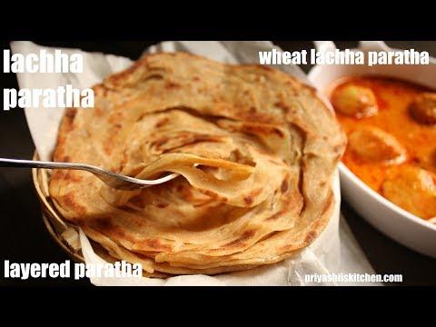 lachha paratha recipe laccha paratha ग ह क आट स बन य ढ र स र परत व ल लच छ पर ठ on hebbar s kitchen recipes laccha paratha id=51670
