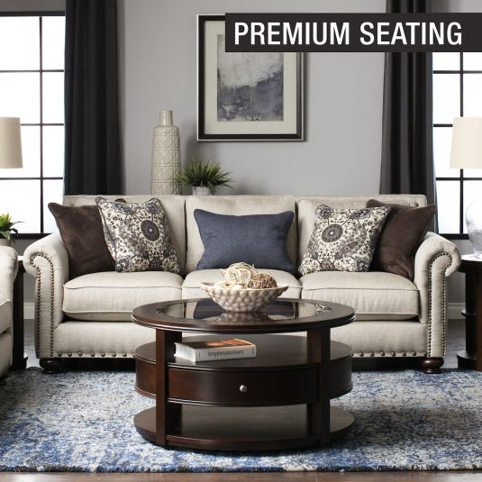 Paula Sofa Loveseat In Linen Jerome S Furniture Beige Living