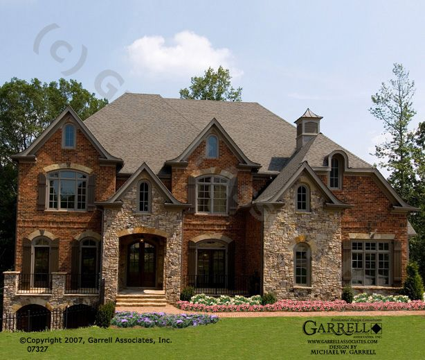 Brick Front Elevation Designs : Brick and stone veneer exterior home photos cornish hall