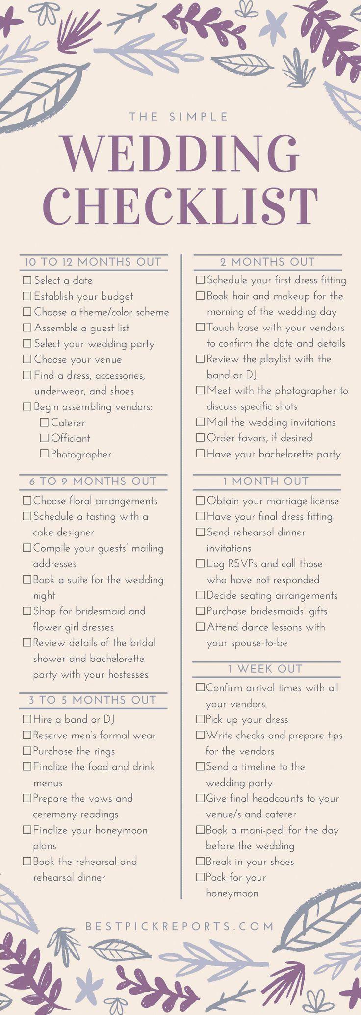 A Complete Checklist For A Simple Bride To Be Wedding Day Checklist Simplest We Simple Wedding Checklist Wedding Ceremony Checklist Wedding Day Checklist