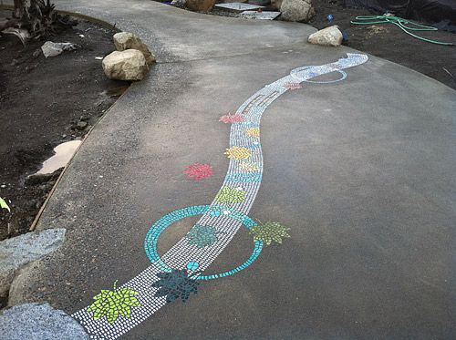 East Bay Public Plaza   Concrete Mosaic   Staining Concrete - CD