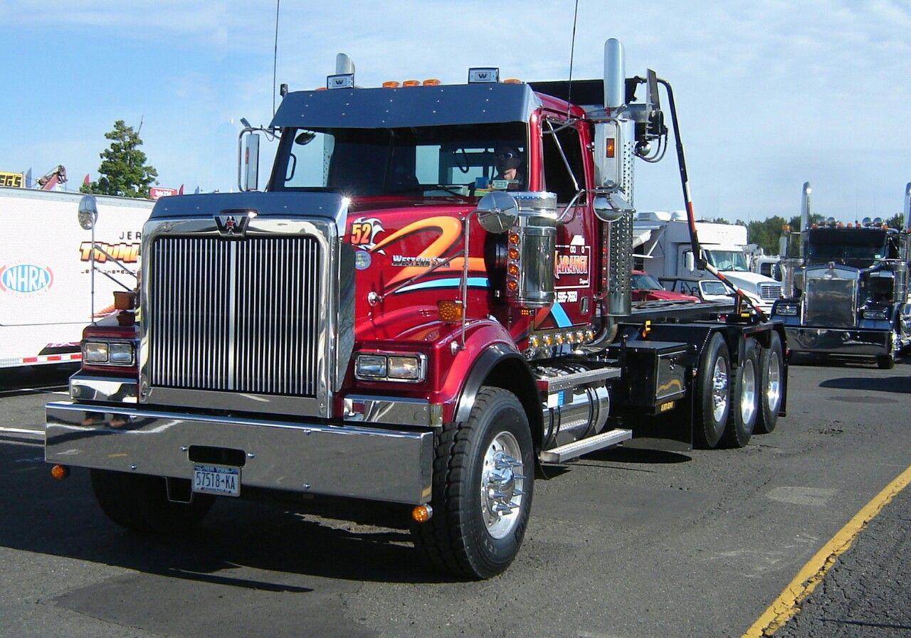 Western Star Custom Tri Axle Roll Off Western Star Trucks Big