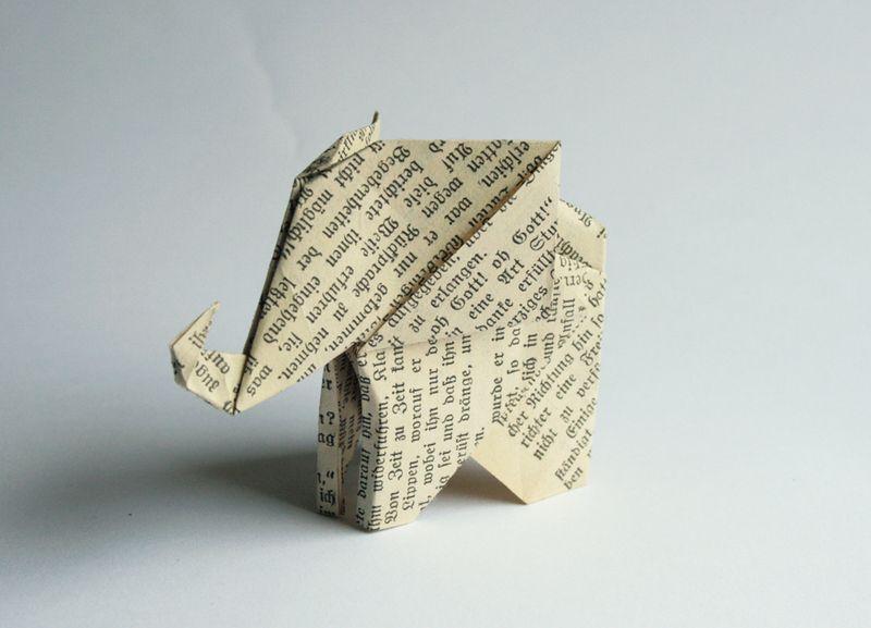 origami elefant drzazgi pinterest origami. Black Bedroom Furniture Sets. Home Design Ideas