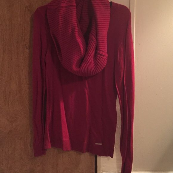 231cc5dabcd1 Red Michael Kors detachable cowl neck sweater NWOT Michael Kors red sweater  with detachable cowl neck. Never been worn!!! Size M Perfect for FALL!
