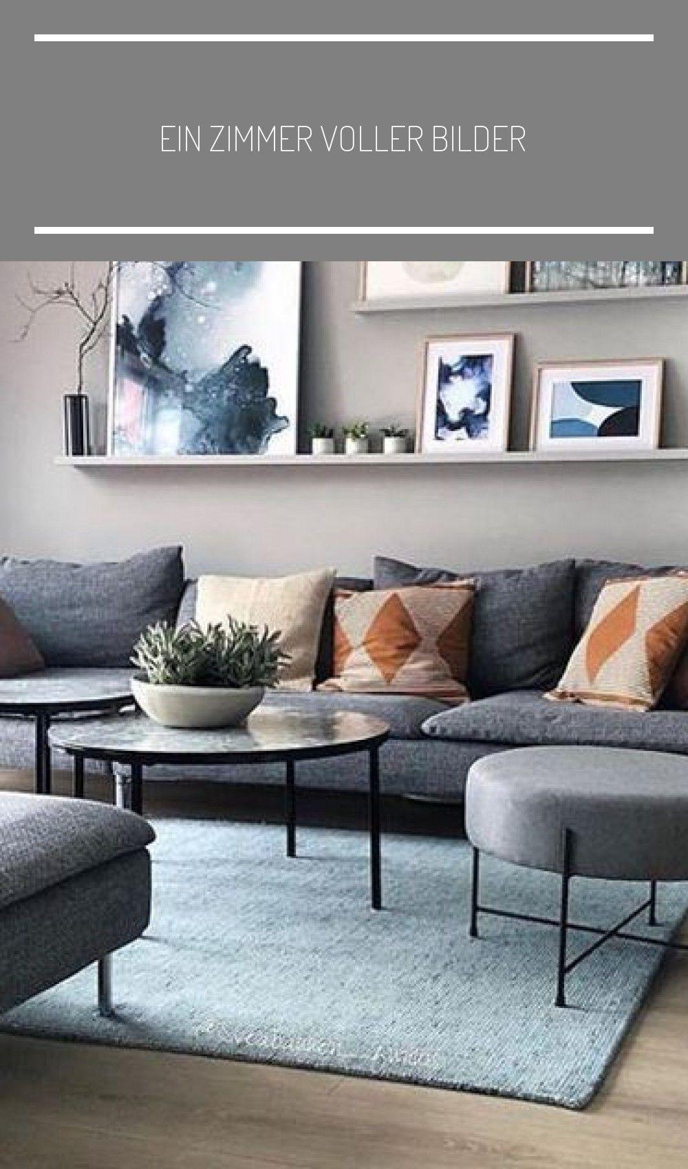 modern living room wall art gray sofa scandinavian design