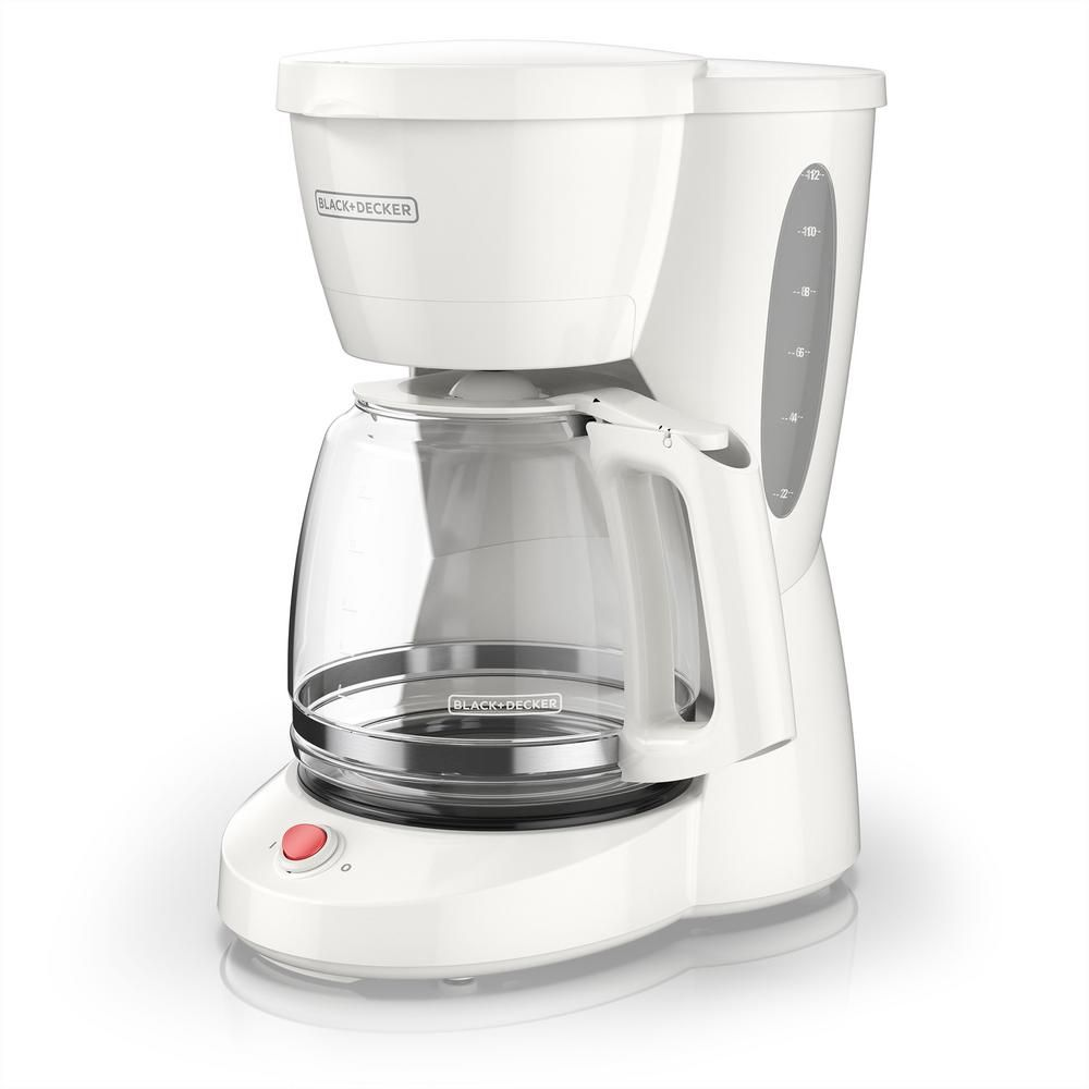 Blackdecker 12cup white switch coffee maker with