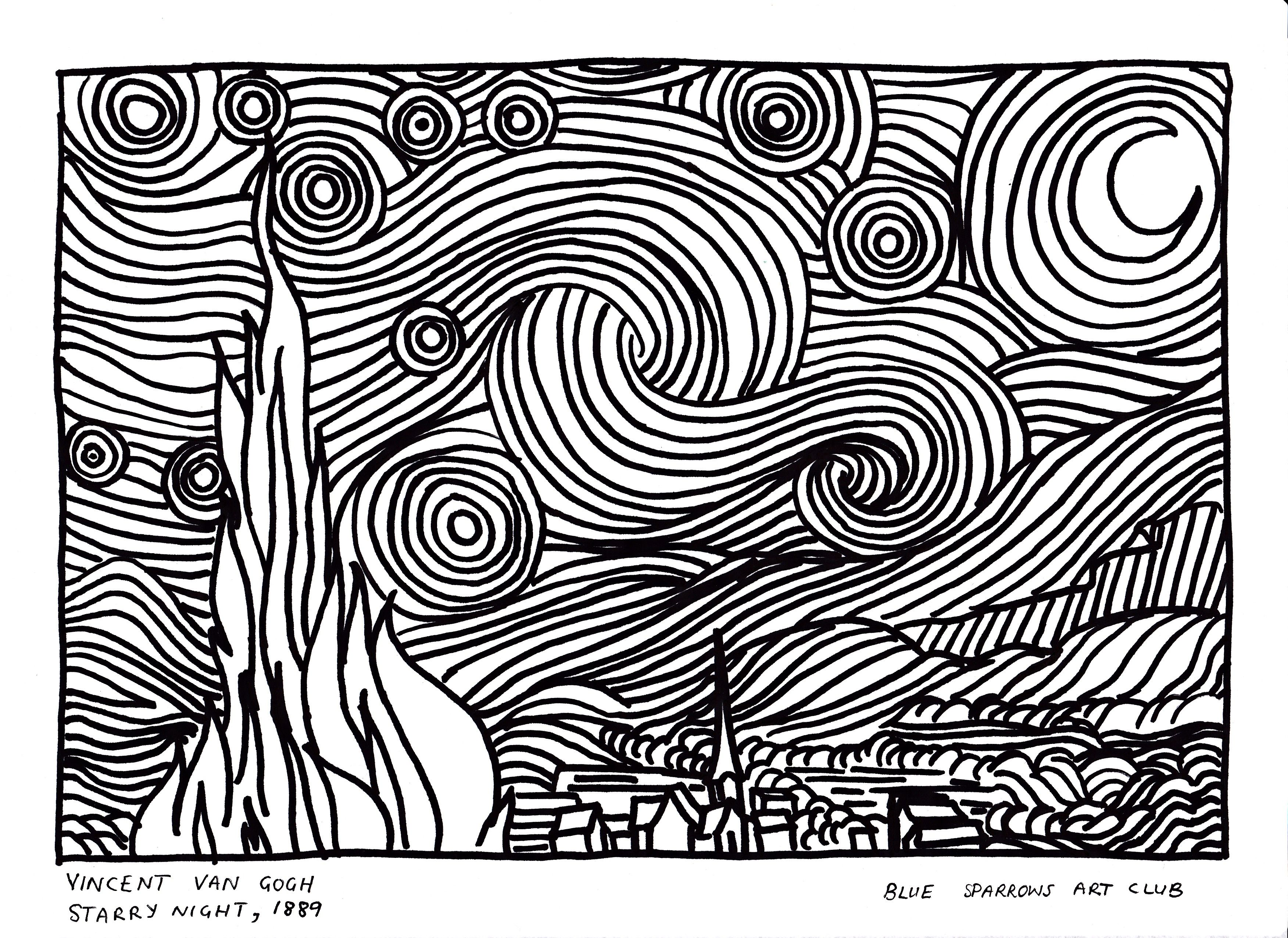 Vincent Van Gogh Starry Night Free Artist
