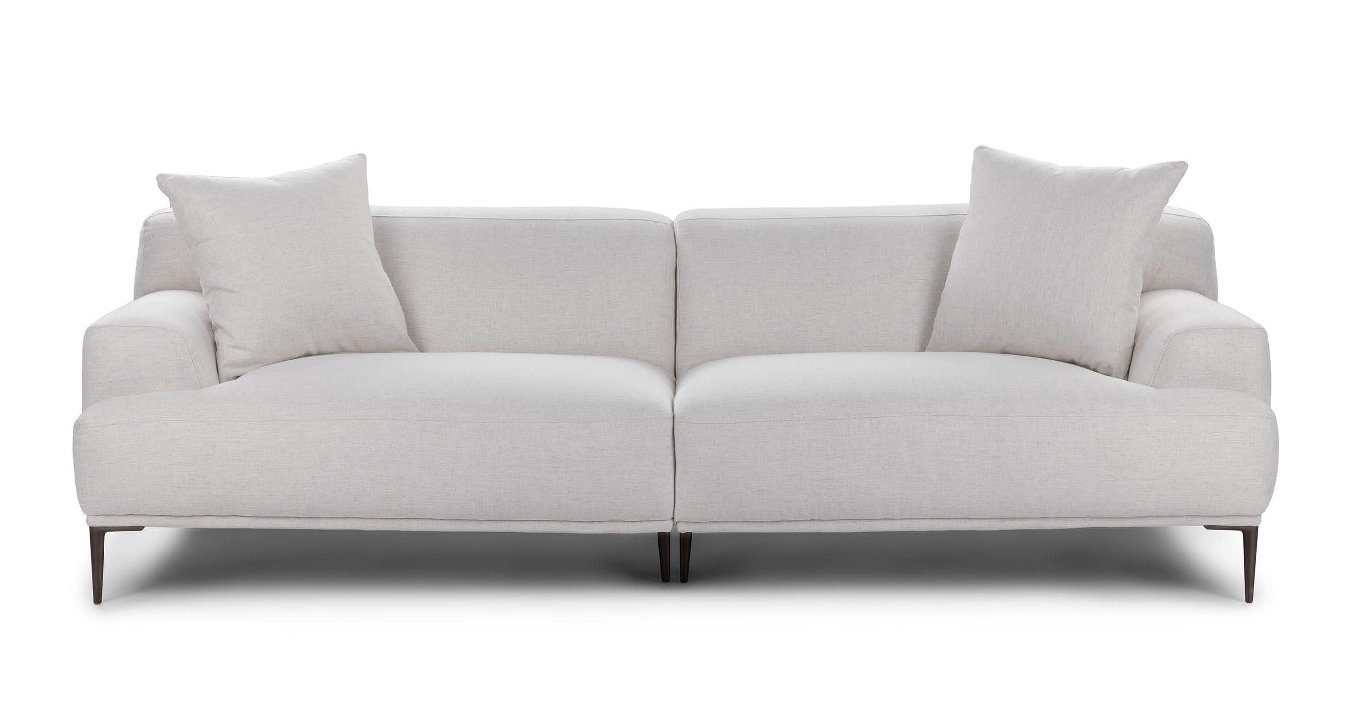 Abisko Mist Gray Sofa Modern Sofa Couch Contemporary Decor Living Room Mid Century Modern Sofa