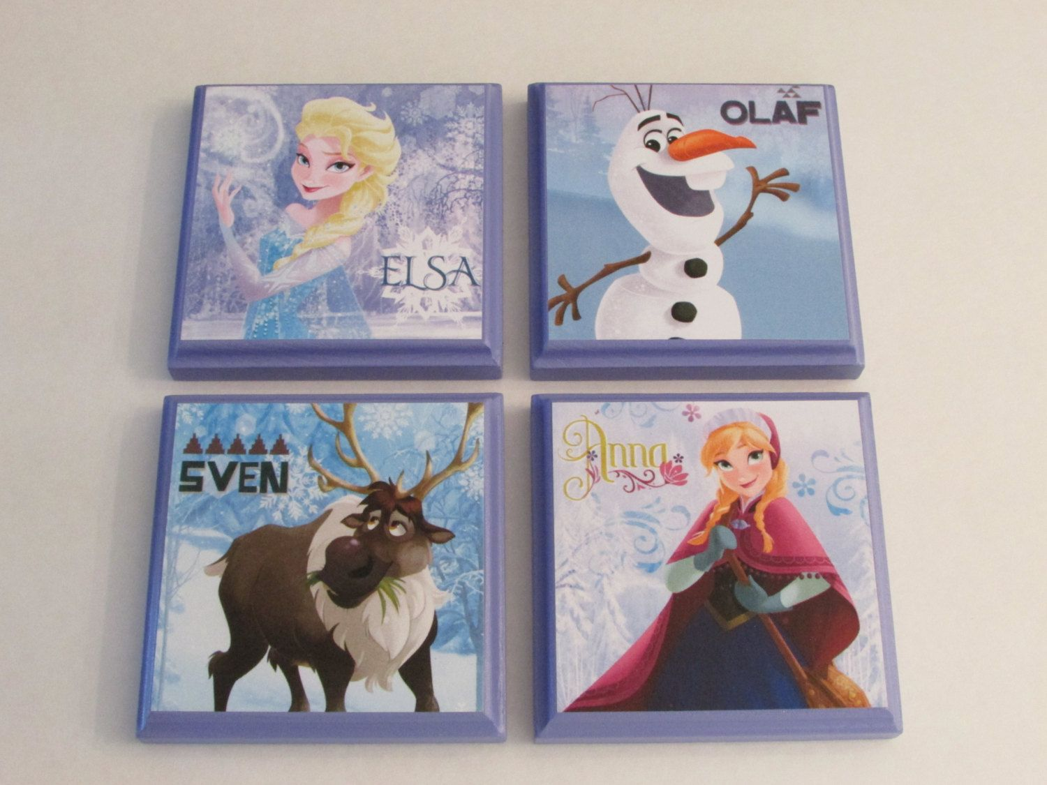 Disney Frozen Room Wall Plaques   Set Of 4 Frozen Girls Room Decor   Frozen  Wall