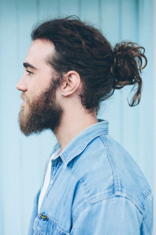 Man Bun For Long Curly Hairstyle Long Hair Styles Men Long Hair Styles Cool Hairstyles