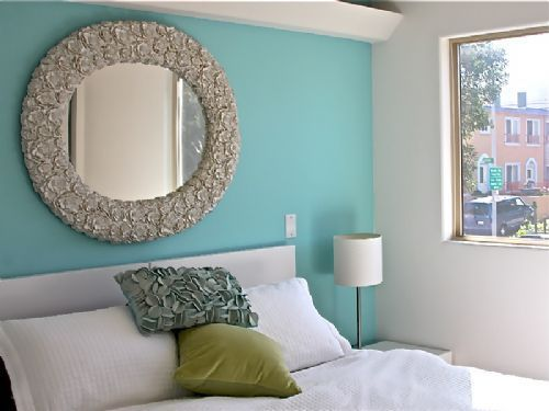 Aqua Feature Wall Bedroom Google Search Wall Ideas Pinterest Feature Wall Bedroom