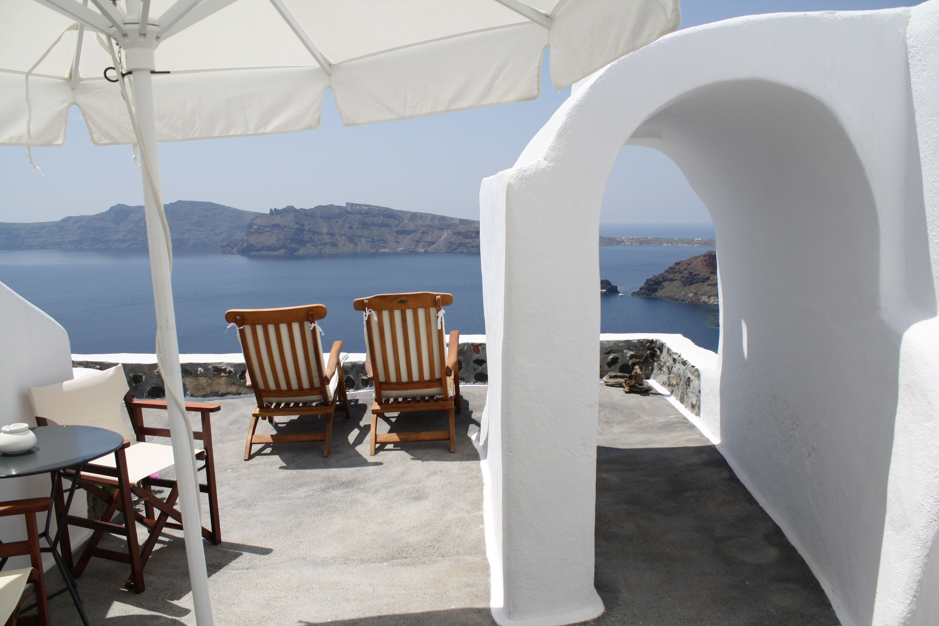 Perivolas on Santorini...a view from our room!