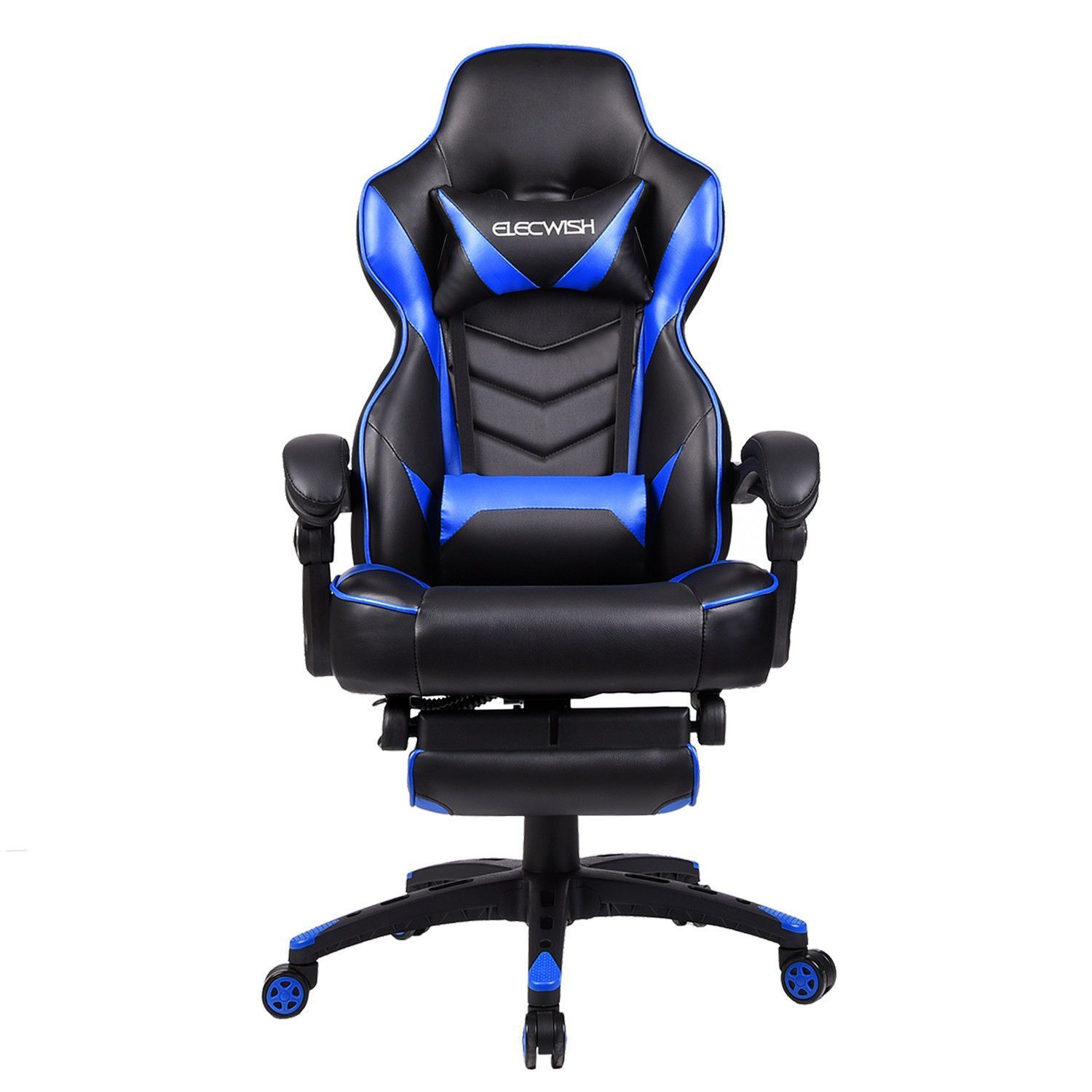office chair seat covers canada fabric covered chairs elecwish gaming racing recliner bucket computer desk w footrest