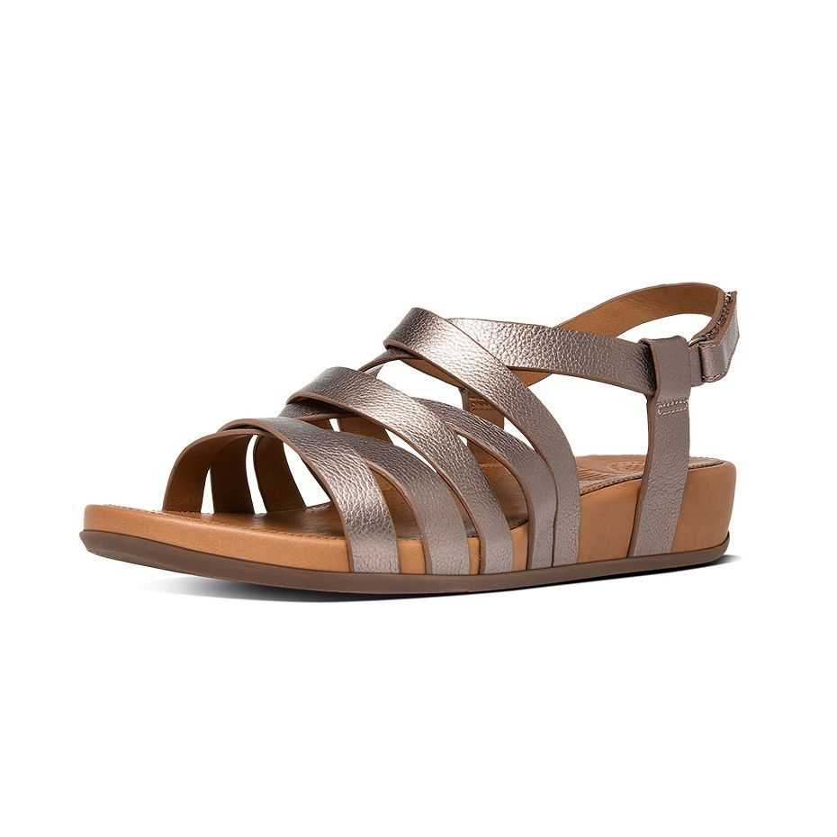 803c4c88b7f Lumy Leather Gladiator Sandals in Bronze