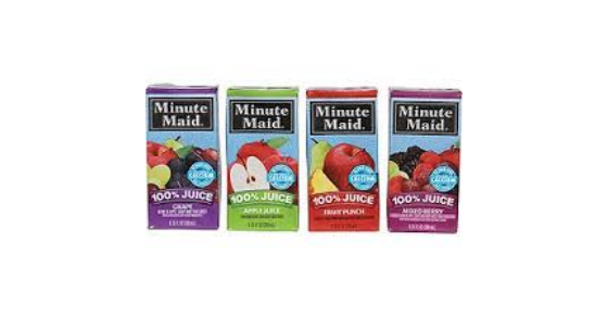 Kroger Minute Maid Juice Boxes just 2.50 w Printable