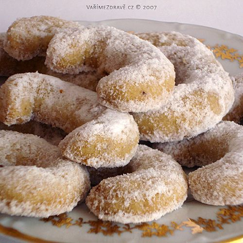 Traditional Czech Christmas Cookies Yummy Vanilkove Rohlicky