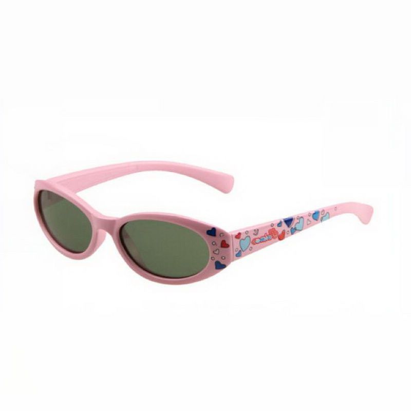 0f140480fc Kids Polarized Sunglasses Oval Pink Frame Green Lens Age (3-12yr ...