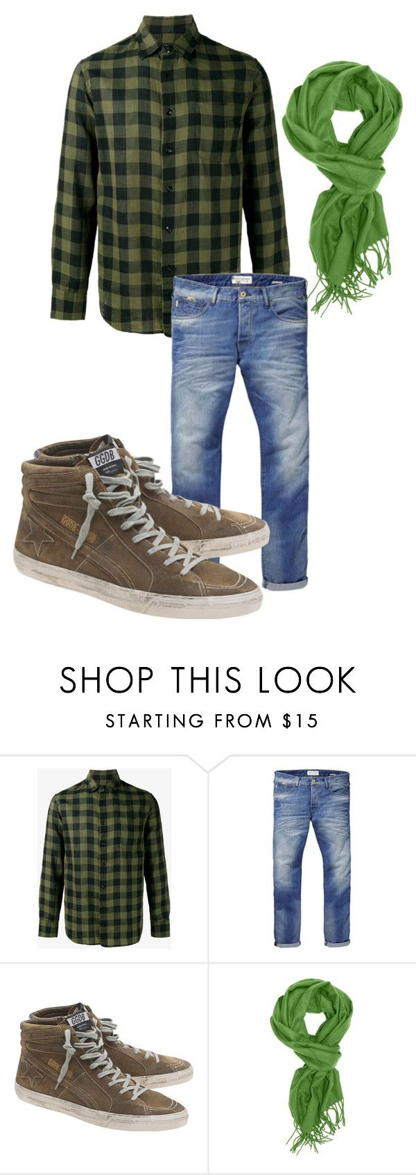 """Green - Male"" by cookiecookiton on Polyvore featuring rag & bone, Scotch & Soda, Golden Goose, men's fashion and menswear"
