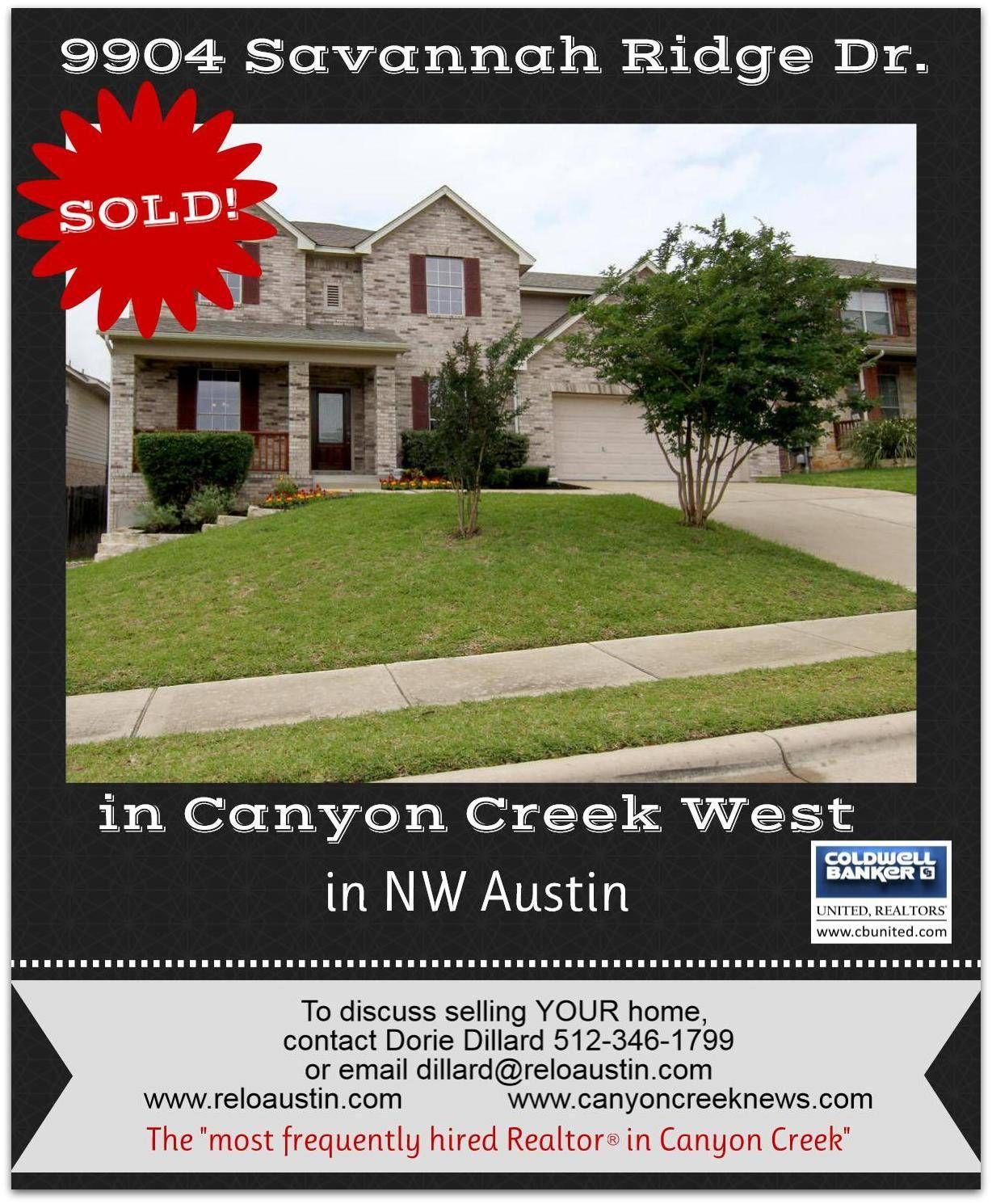 sold canyon creek west in nw austin 9904 savannah ridge savannah