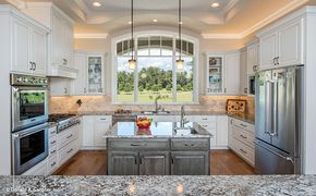 Kitchen Love This Kitchen Layout Perfect Love The 2 Islands Ton Of Natural Light Sink Under Kitchen Remodel Small Kitchen Layout Kitchen Layout U Shaped