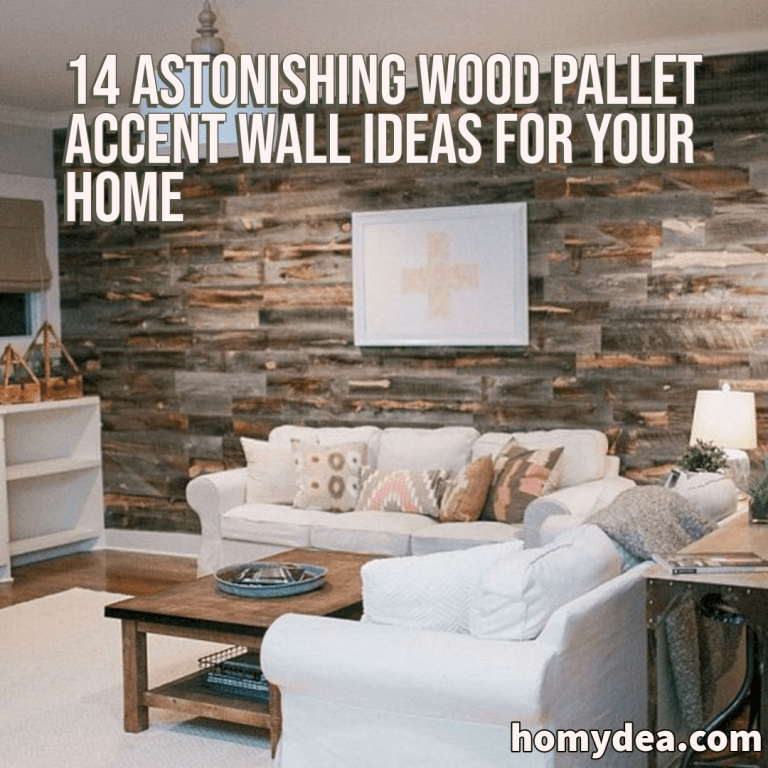 Renting A Pallet Accent Wall: 14 Astonishing Wood Pallet Accent Wall Ideas For Your Home