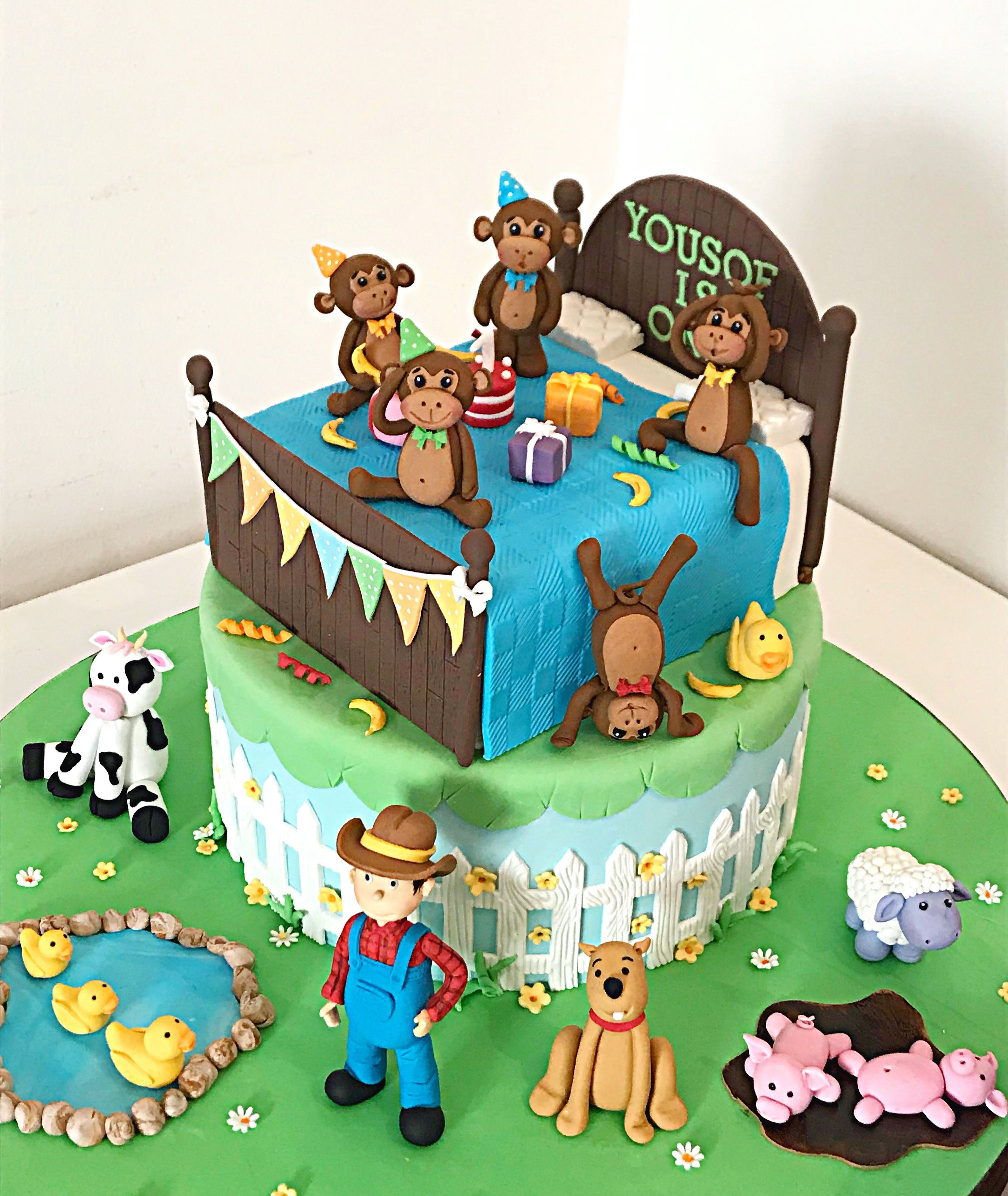 Nursery Rhymes Cake 5 Little Monkeys