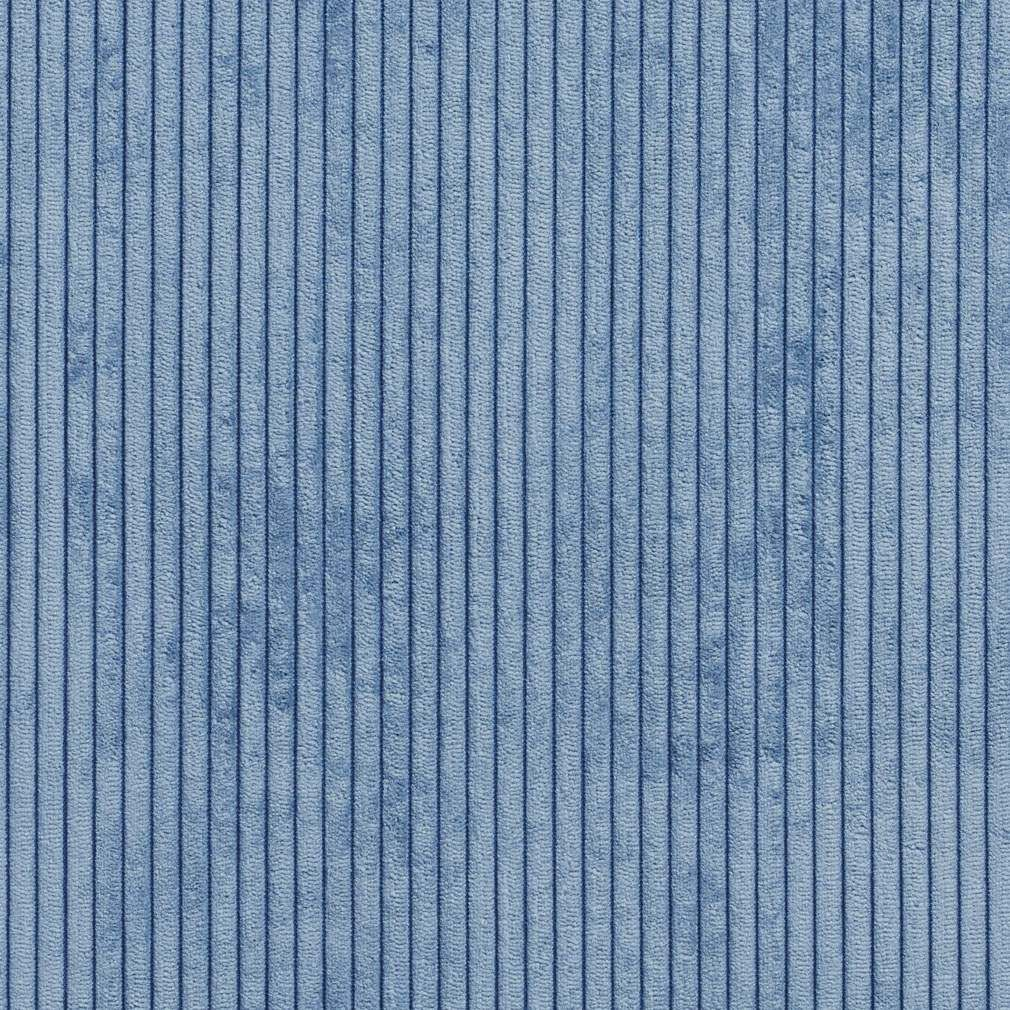 B0700c Blue Corduroy Striped Soft Velvet Upholstery Fabric