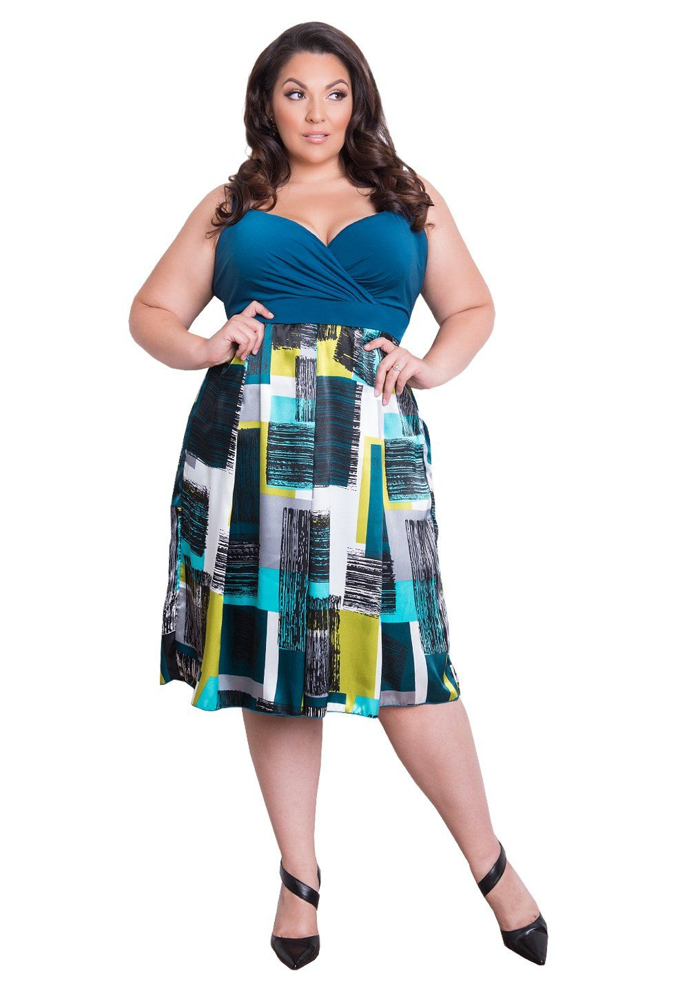 86be1f77bfc IGIGI Womens Plus Size Sleeveless Empire Waistband Cocktail Dress -  Bennetta Polished 22 24.
