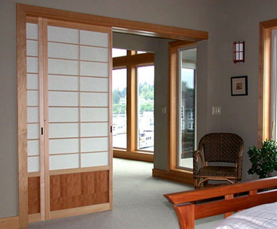 Indoor Doors With Overhang Slides Contemporary Home Interior Japanese Sliding Doors Room