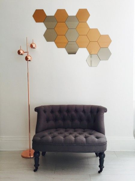 Bouji Loungesessel, Graphitgrau | Ikea mirror, Copper floor lamp and ...