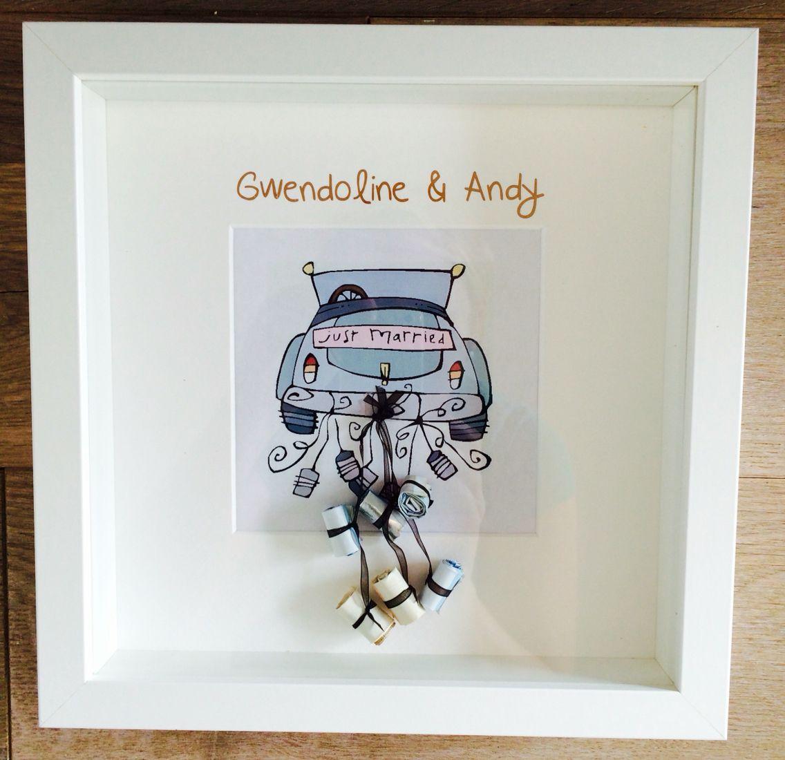 Geldcadeau huwelijk Gwendoline  Andy  creatIVE  Hochzeitsgeschenke ideen Geldgeschenke
