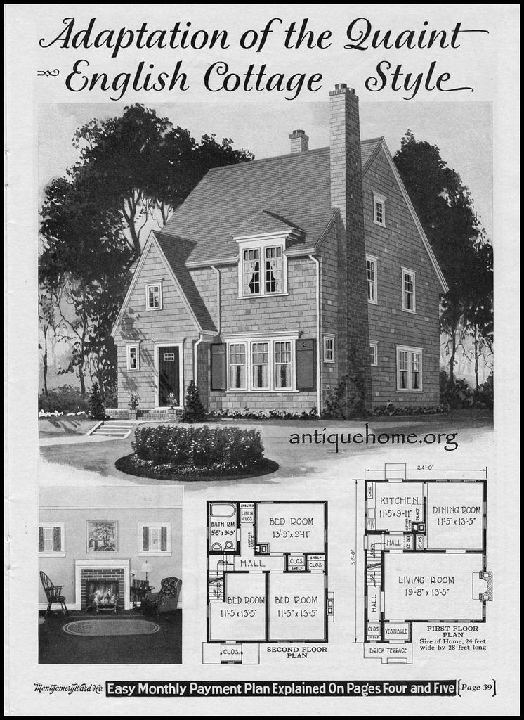 1928 Wardway Kit Home The Maywood Vintage House Plans Storybook Homes House Floor Plans