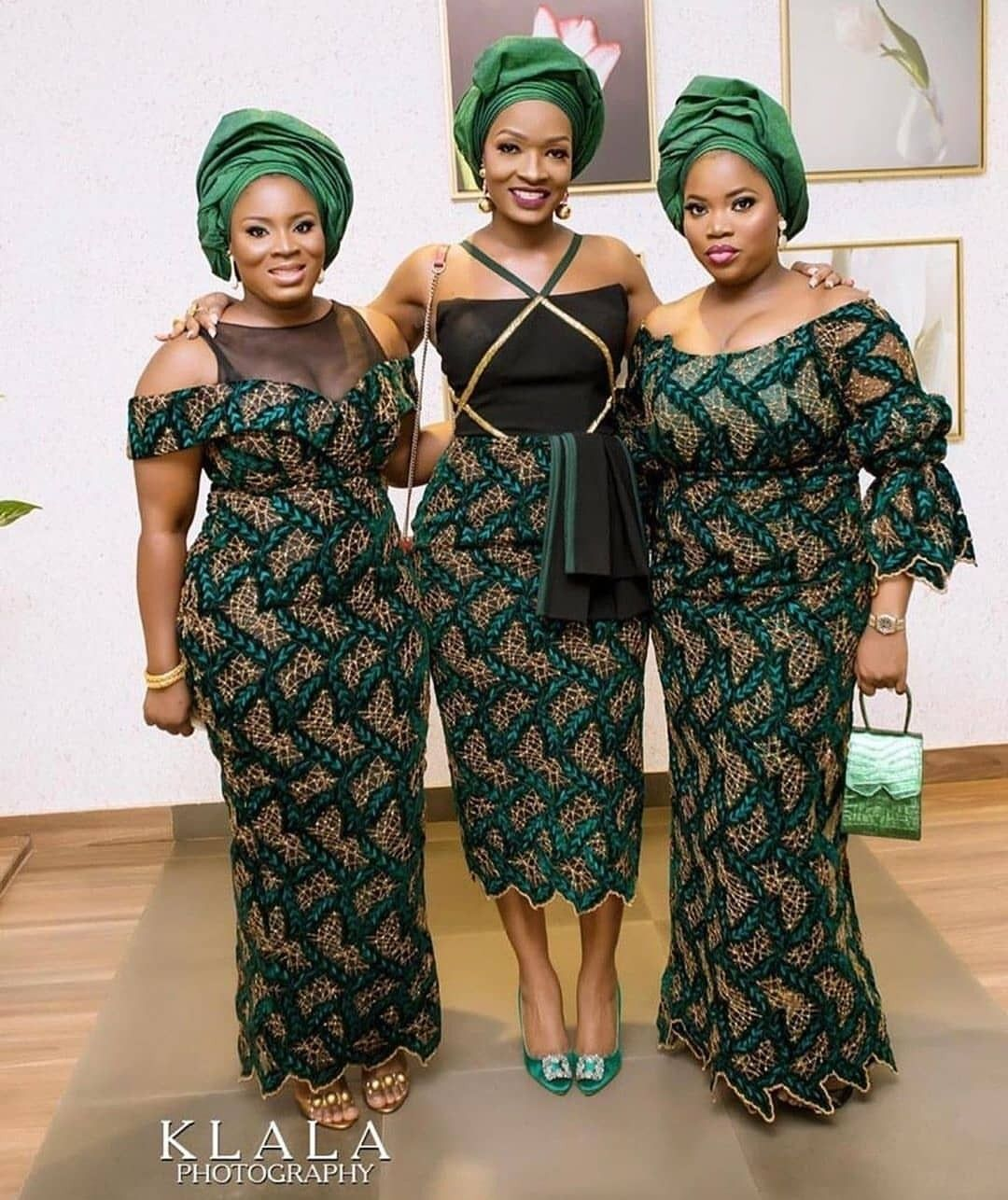 Beautiful african print dress and head tie set