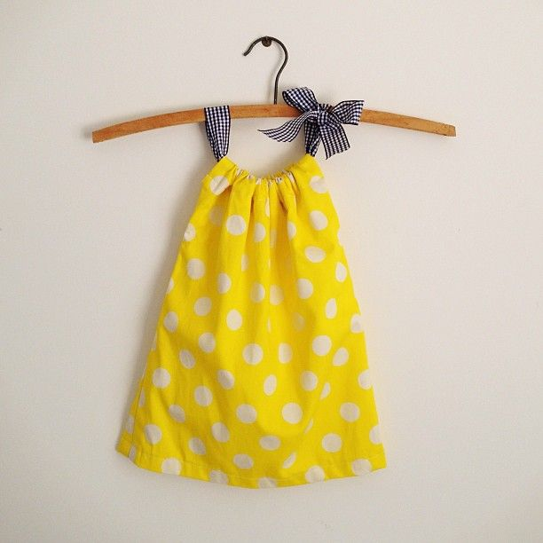 Yellow Spotty DIY Pillow Case Dress. | Quilting and Sewing | Pinterest