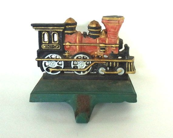 The Christmas Train Cast.Vintage Rustic Cast Iron Christmas Train By