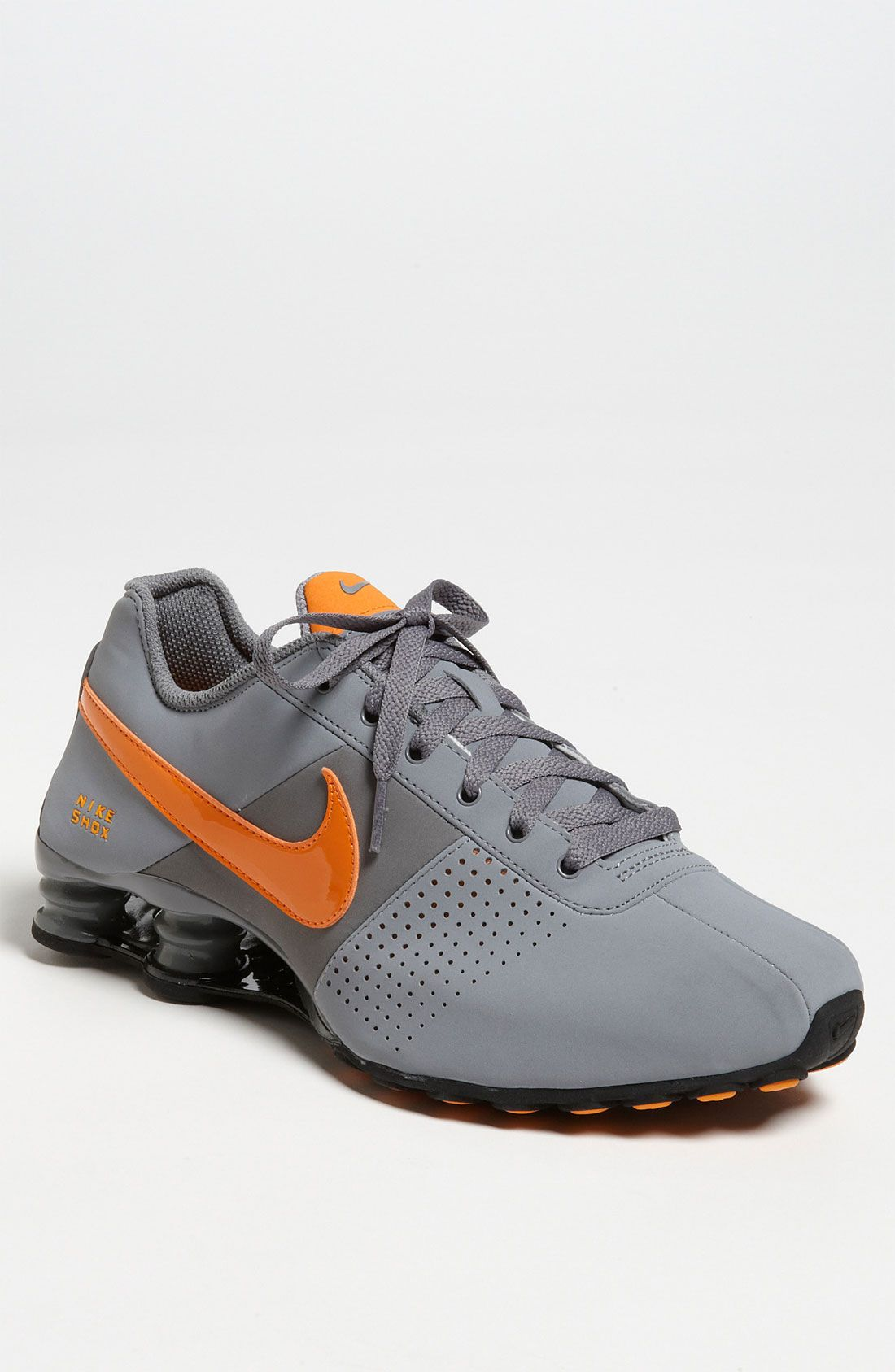 Nike Shox Gray And Orange