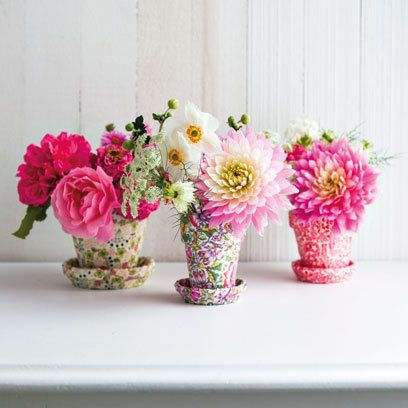 Floral covered plant pots | How To Decorate With Pattern | Easy To Steal | Interiors | redonline.co.uk