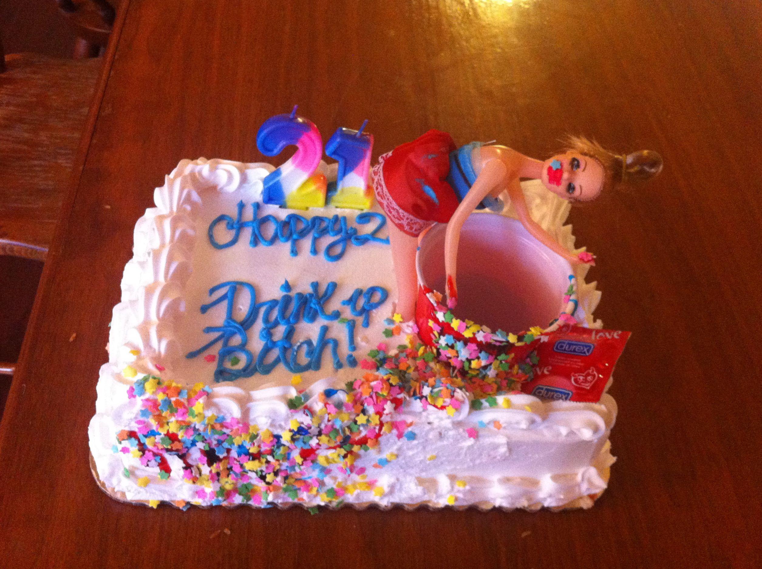 21st Birthday Cake decorated by yours truly hotmess 21 twentyone