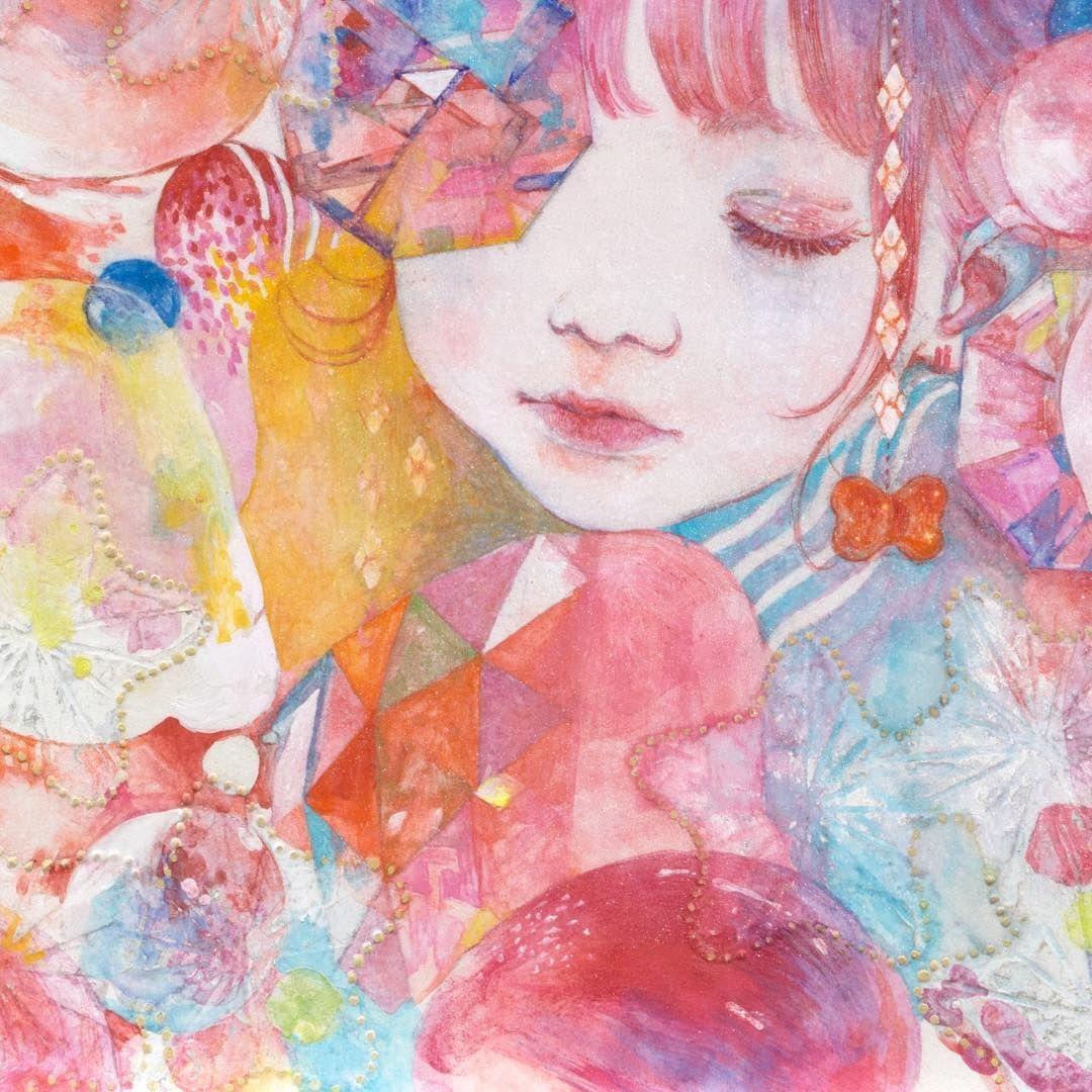 kapka #art #japanesepainting #illustration #jelly #drop #kapka ...