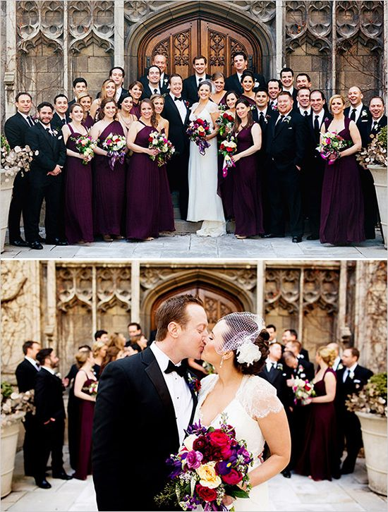Purple and Gold Cathedral Wedding | Everything Wedding | Pinterest ...
