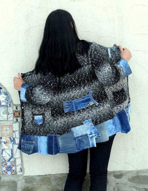 Reserved for lablonde802 BIG SALE S-S/M Boro appliqued sweater ...